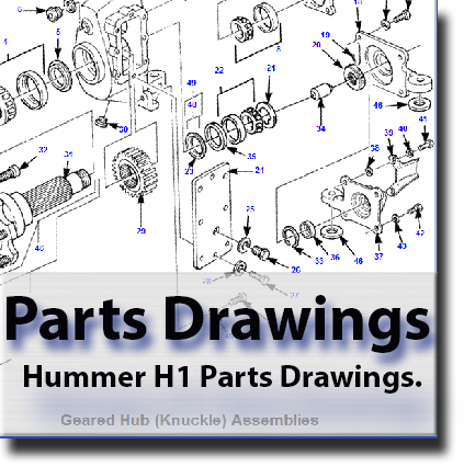 Hummer H1 Parts Drawings